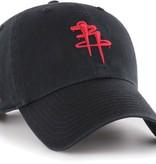 Houston Rockets/OG Slick 47 Clean Up Hat - Black/Red