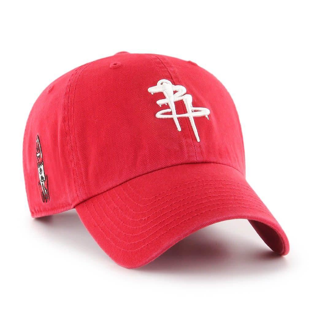 Houston Rockets/OG Slick 47 Clean Up Hat - Red