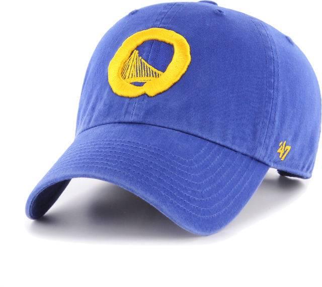 GS Warriors/OG Slick 47 Clean Up Hat - Royal Blue/Yellow