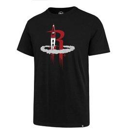 Houston Rockets/Og Slick '47 Splitter Tee - Rocket - Black