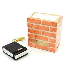 World Map - Brickwall Case & Blackbook Key Chain (Blank)