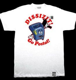 Dissizit Tee - Go Postal - White