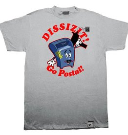 Dissizit Tee - Go Postal - Heather Grey