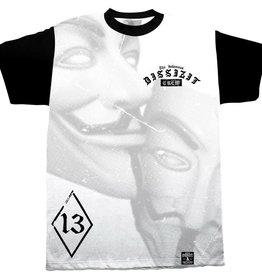 Dissizit Tee - Anonymous 13 - Black/White