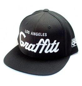 Graffiti The City Snapback - Los Angeles Graffiti - Classic Black