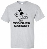 Personalized Conquer Cancer Youth Shirts