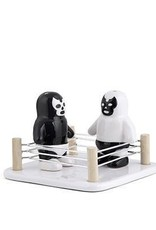 Luchador Salt And Pepper Shakers and Stand