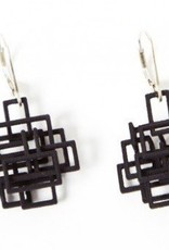 Melissa Borrell Black Square Earrings