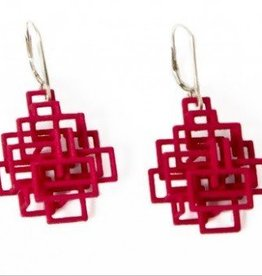 Melissa Borrell Red Square Earrings