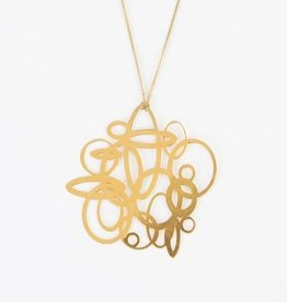 Melissa Borrell Circles Gold Necklace