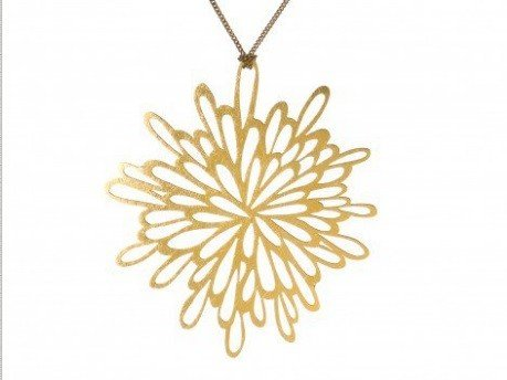 Melissa Borrell Sunburst Gold Necklace