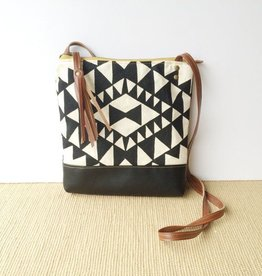 Weekday Crossbody Bag Black White Geometric Print
