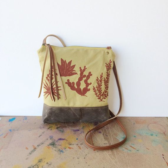Weekday Crossbody Bag Red Botanical Print