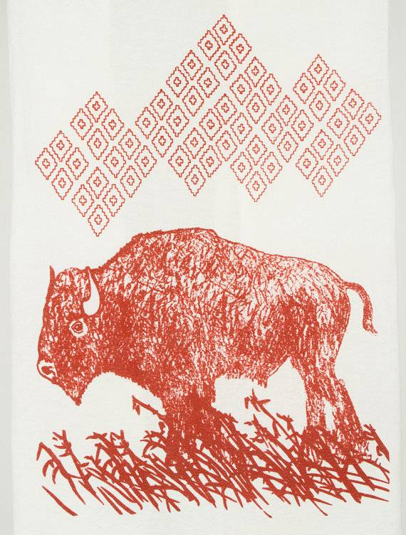Bison Buffalo Kimball Tea Towel
