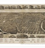 """Amon Carter Poster Prints Fort Worth, Tex., """"The Queen of the Prairies,"""" County seat of Tarrant County"""