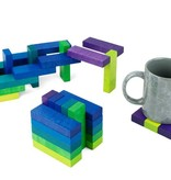 Playable Art Coaster Set in Green