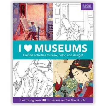 I Heart Museums Coloring Book
