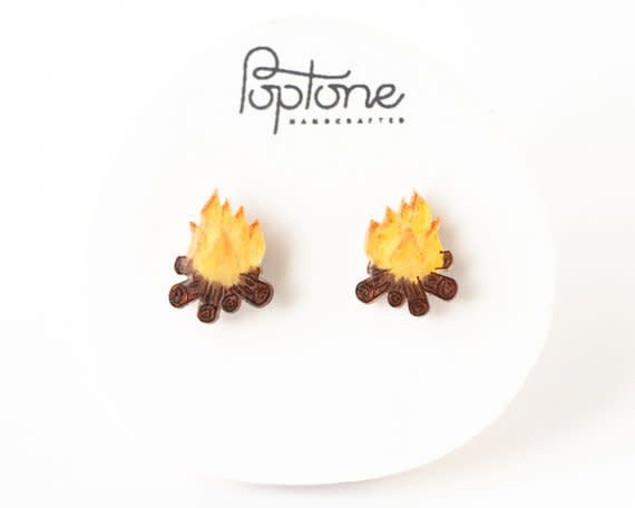 Poptone Campfire Stud Earrings