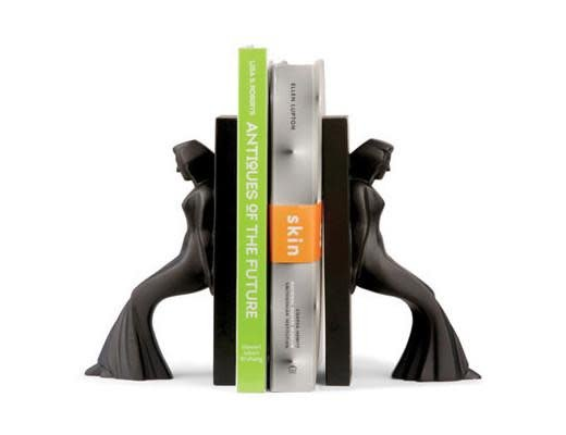 Pair Of Bookends Leaning Ladies