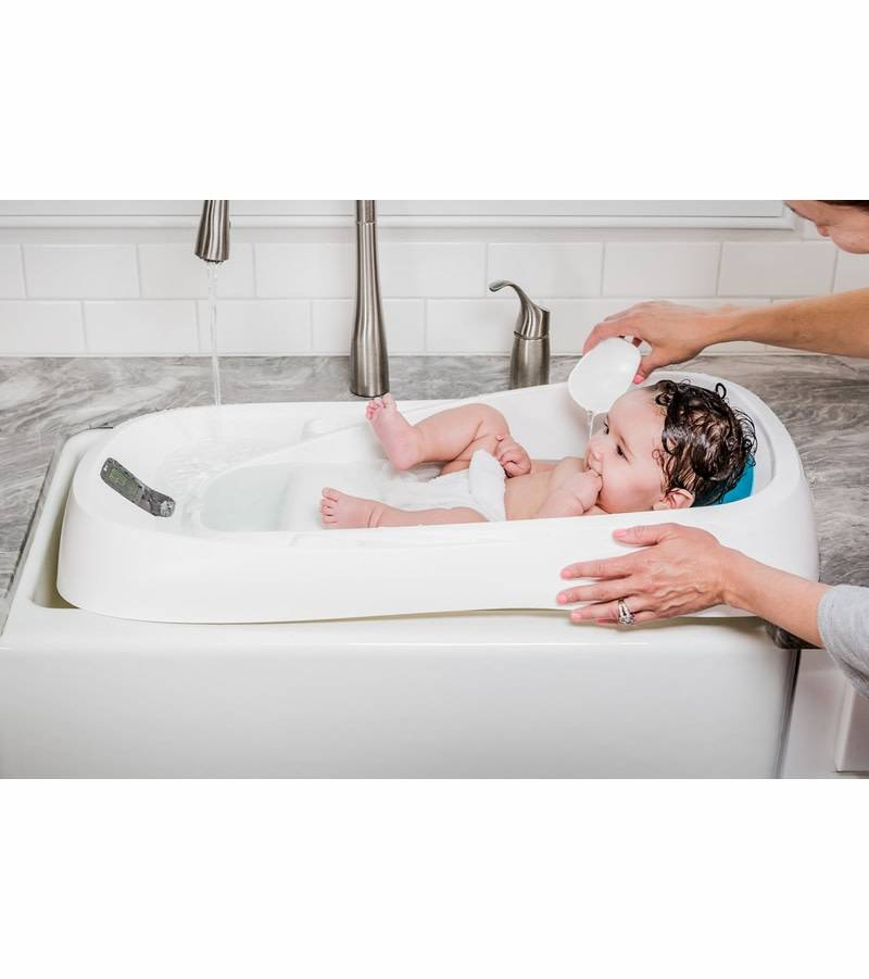 4moms 4Moms Infant Bath Tub Clean Water Flows In, Dirty Water Flows ...