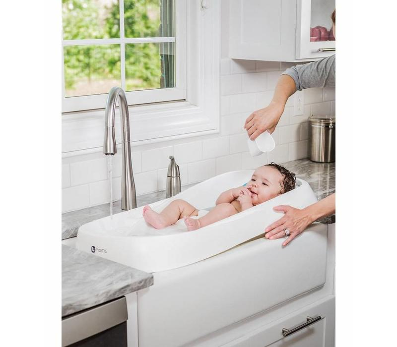 4Moms Infant Bath Tub Clean Water Flows In, Dirty Water Flows Out