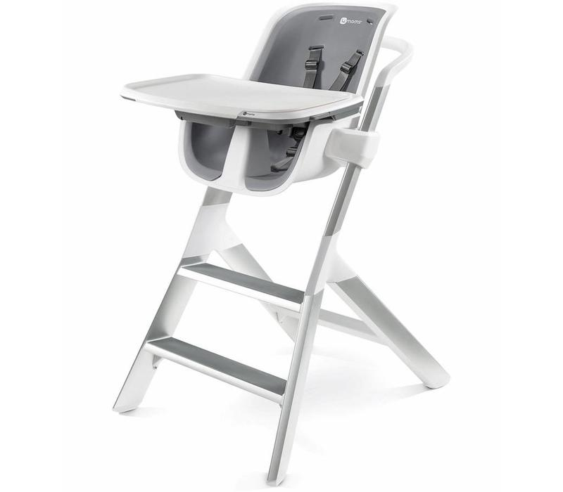 2017 4moms High Chair In White - Grey