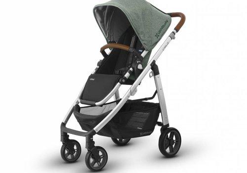 UppaBaby 2018 Uppa Baby Cruz Stroller In EMMETT (Green Mélange/Silver/Saddle Leather)