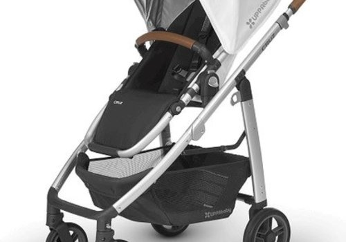 UppaBaby 2018 Uppa Baby Cruz Stroller In LOIC (White/Silver/Saddle Leather)