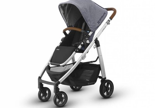 UppaBaby 2018 Uppa Baby Cruz Stroller In GREGORY (Blue Mélange/Silver/Saddle Leather)