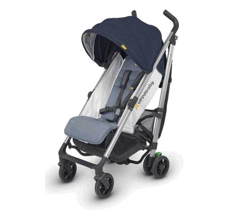 2018 Uppa Baby G-Luxe Stroller In AIDAN (Denim/Silver)