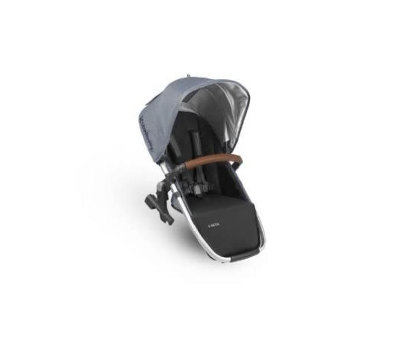 Uppa Baby 2018 Vista Rumble Seat (Only) In GREGORY (Blue Mélange/Silver/Saddle Leather)