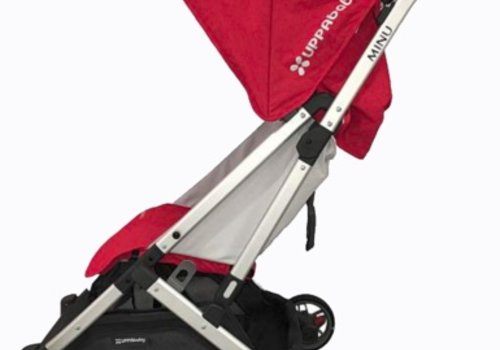UppaBaby 2018 Uppababy Minu Stroller In DENNY (Red Mélange/Silver/Black Leather)