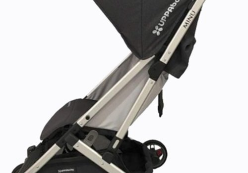UppaBaby 2018 Uppababy Minu Stroller In JORDAN (Charcoal Mélange/Silver/Black Leather)