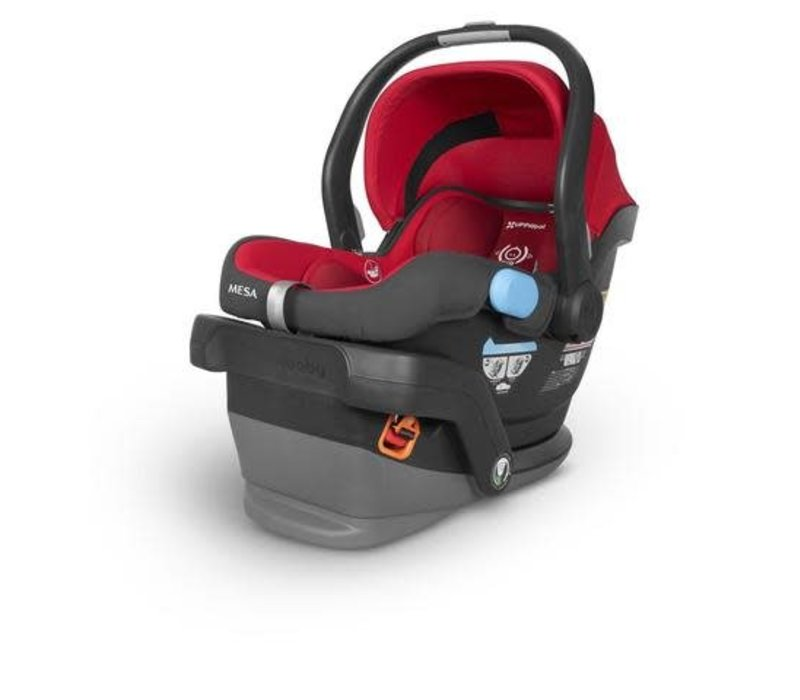 2018 UppaBaby MESA Infant Car Seat With Base In DENNY (Red)
