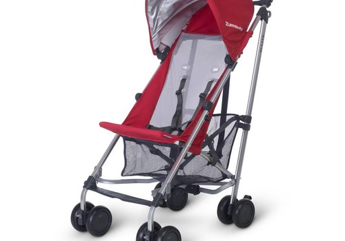 UppaBaby 2018 Uppa Baby G-Lite Stroller In Denny (Red-Silver)