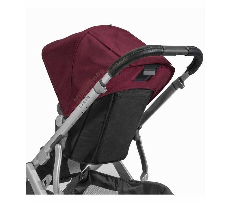 Uppa Baby Vista Leather Black Handlebar Covers-Saddle For Vista 2015-Later