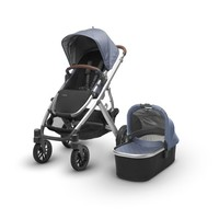 2018 Uppa Baby Vista Stroller In Henry (Blue Marl/Silver/Saddle Leather)