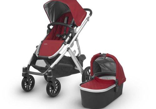 UppaBaby 2018 Uppa Baby Vista Stroller In DENNY (Red Matte/Silver)
