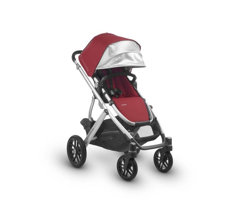 2018 Uppa Baby Vista Stroller In DENNY (Red Matte/Silver)