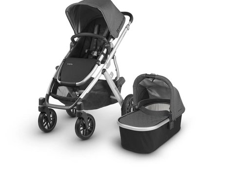 UppaBaby 2018 Uppa Baby Vista Stroller In JORDAN (Charcoal Mélange/Silver)