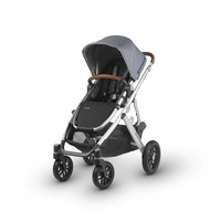 2018 Uppa Baby Vista Stroller In Gregory  (Blue Mélange/Silver/Saddle Leather)