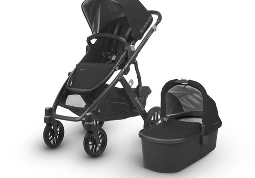 UppaBaby 2018 Uppa Baby Vista Stroller In Jake (Black/Carbon/Black Leather)