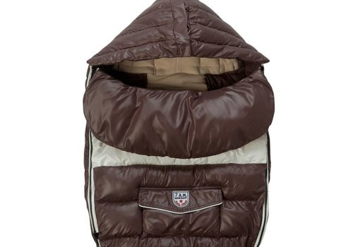 7 AM 7 A.M. Enfant Baby Shield Medium Footmuff In Marron Glace