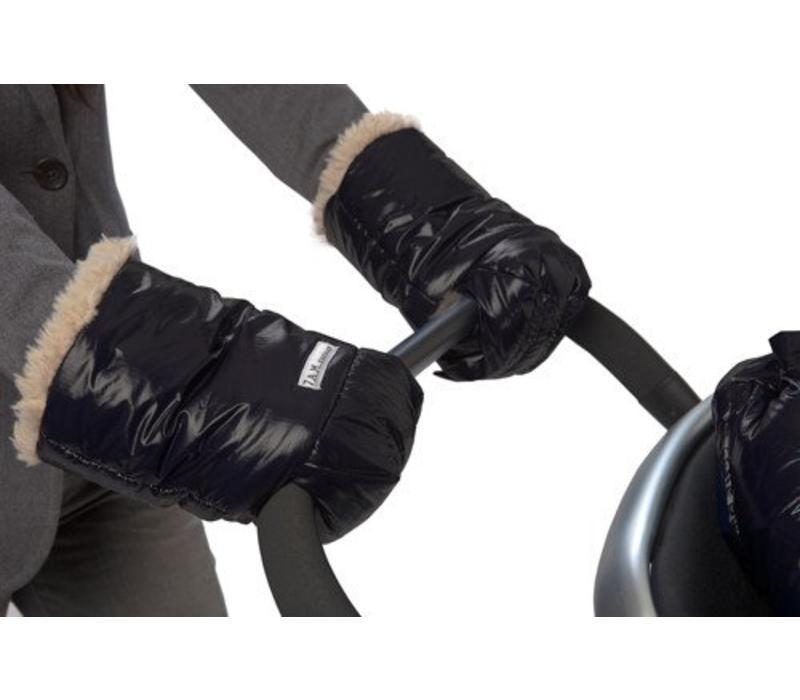 7 A.M. Enfant Handmuffs Warmmuffs Polar Faux Shearling In Black
