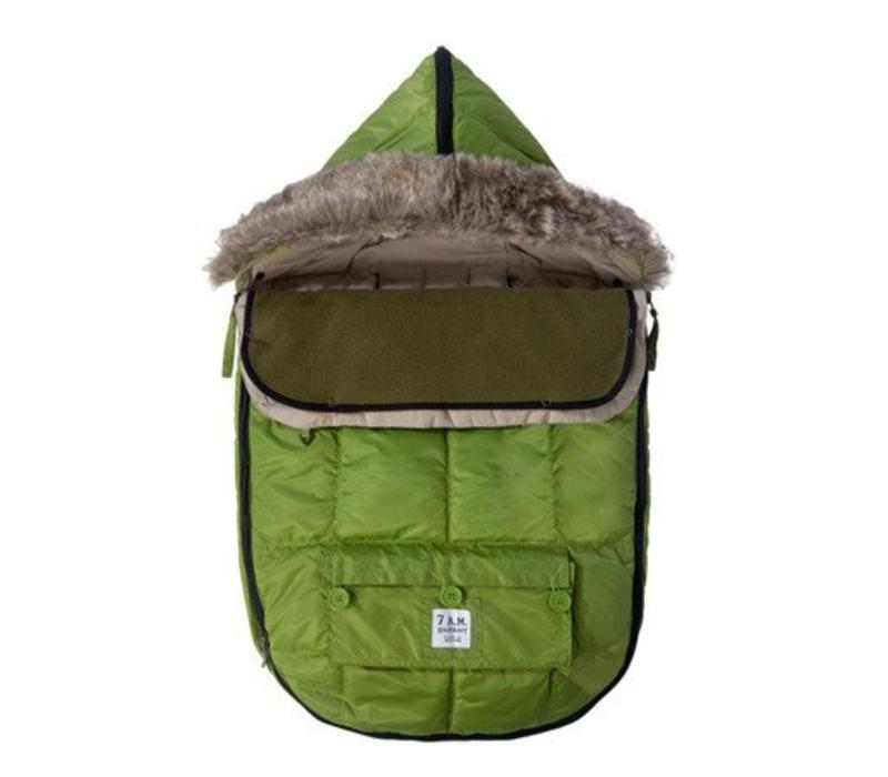 7 A.M. Enfant Le Sac Igloo Baby Bunting Medium In Kiwi