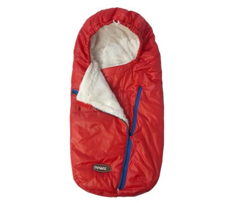 7 A.M. Enfant Papoose Medium-Large Lightweight Footmuff In Red