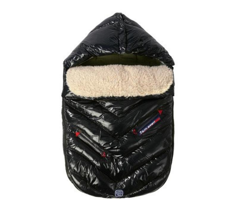 7 A.M. Enfant Polar Igloo Large Footmuff In Black