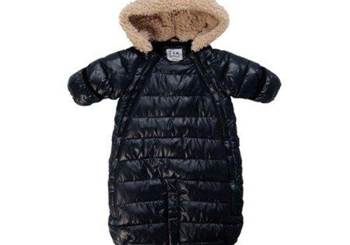 7 AM 7 A.M. Snow Suit Bunting Doudoune Medium In Black