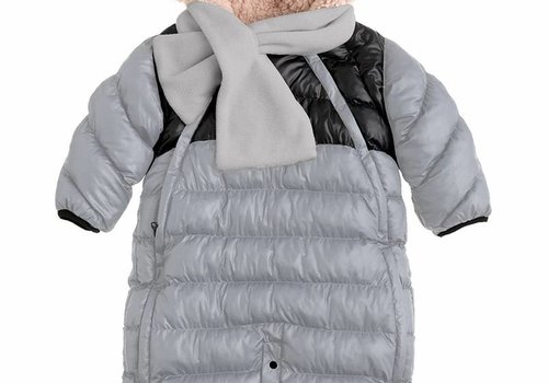 7 AM 7 A.M. Snow Suit Bunting Doudoune Small In Gray-Black