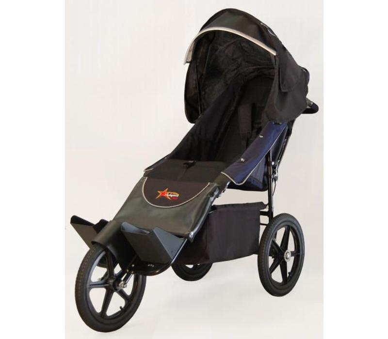 Adaptive Star Axiom Endeavour 1.5 Indoor and Outdoor Mobility Push Chair In Navy